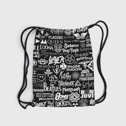Рюкзак-мешок 3D ЛОГОТИПЫ РОК ГРУПП Фото 01