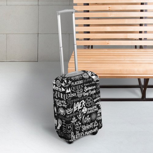 Чехол для чемодана 3D ЛОГОТИПЫ РОК ГРУПП Фото 01