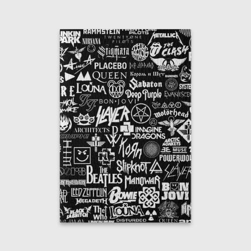 Обложка для паспорта матовая кожа ЛОГОТИПЫ РОК ГРУПП | ROCK Фото 01