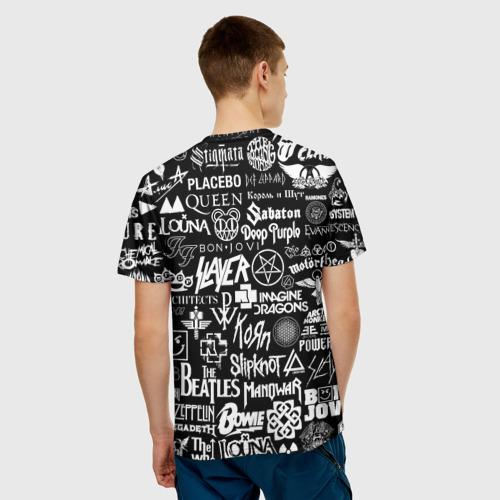 Мужская футболка 3D ЛОГОТИПЫ РОК ГРУПП Фото 01