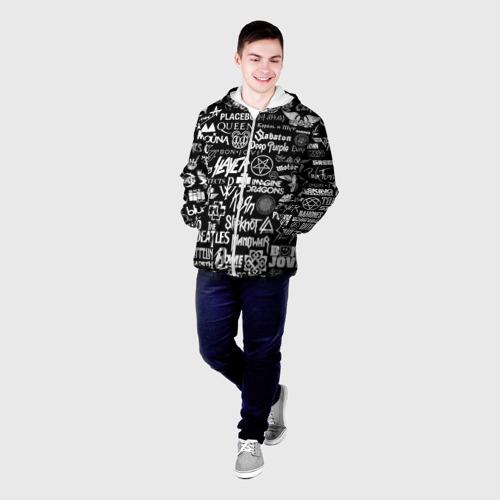Мужская куртка 3D ЛОГОТИПЫ РОК ГРУПП Фото 01
