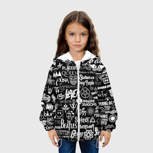 Детская куртка 3D ЛОГОТИПЫ РОК ГРУПП Фото 01