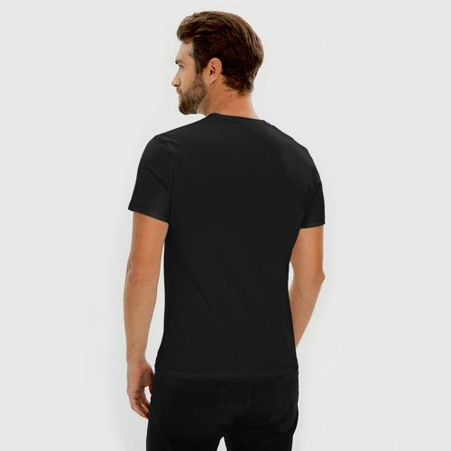 Мужская футболка хлопок Slim Идущий к реке Фото 01