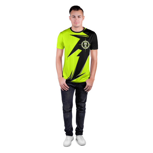 Мужская футболка 3D спортивная Геодезическая форма Фото 01