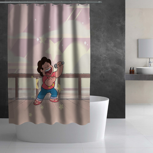 Штора 3D для ванной Steven Universe Фото 01