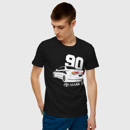 Мужская футболка хлопок Toyota Mark 2 JXZ90  Фото 01