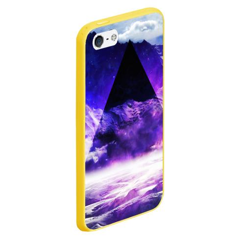 Чехол для iPhone 5/5S матовый Космический треугольник Фото 01