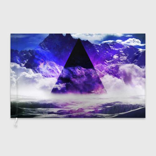 Флаг 3D Космический треугольник Фото 01