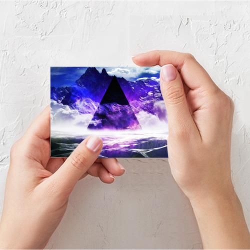 Поздравительная открытка Космический треугольник Фото 01