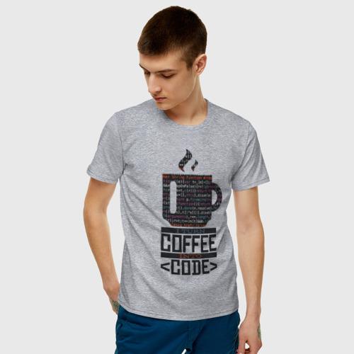 Мужская футболка хлопок Код Кофе Фото 01