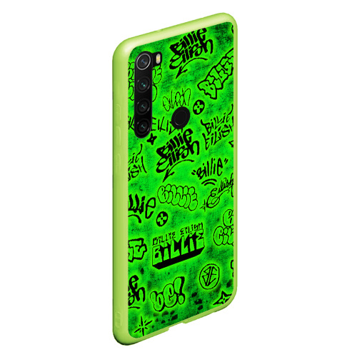 Чехол для Xiaomi Redmi Note 8 Billie Eilish Graffiti glow Фото 01
