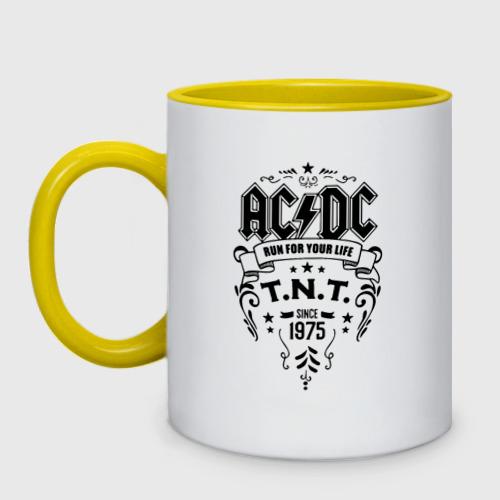 Кружка двухцветная AC/DC run for your life One фото