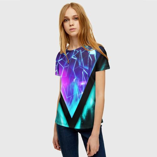 Женская футболка 3D NEON GEOMETRY Фото 01