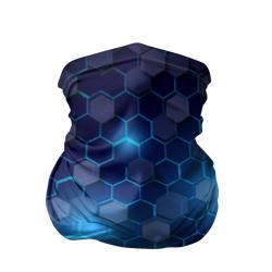Синие соты в неоне