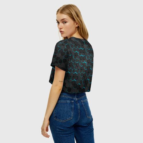 Женская футболка Crop-top 3D Turquoise Octagon  Фото 01