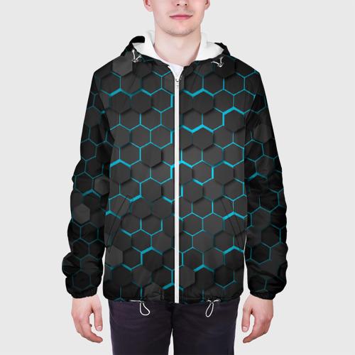 Мужская куртка 3D Turquoise Octagon  Фото 01