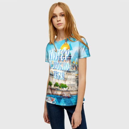 Женская футболка 3D Питер Фото 01