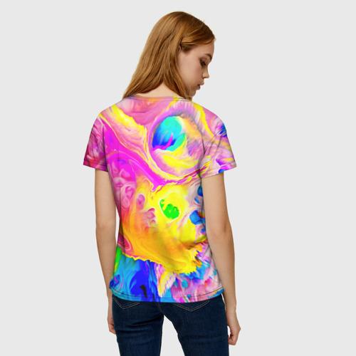Женская футболка 3D КРАСКИ Фото 01