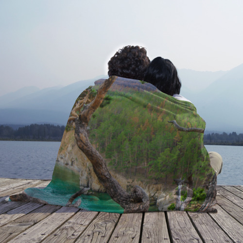 Плед 3D Байкал, губа Заверняиха Фото 01