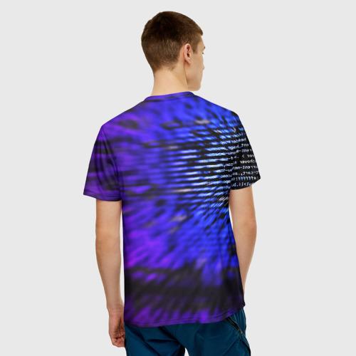 Мужская футболка 3D НЕОНОВЫЙ КОД Фото 01