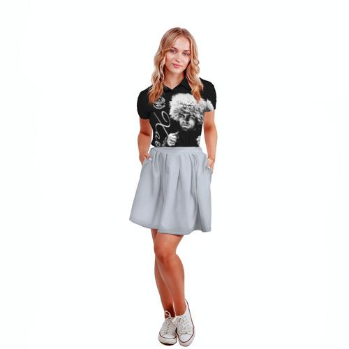 Женская рубашка поло 3D Хабиб Нурмагомедов Фото 01