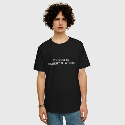 Мужская футболка хлопок Oversize directed by robert b weide МЕМ Фото 01