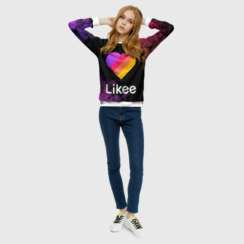 Женский свитшот 3D LIKEE (Like Video) Фото 01