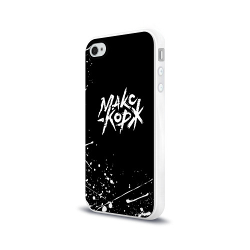 Чехол для Apple iPhone 4/4S силиконовый глянцевый МАКС КОРЖ  Фото 01