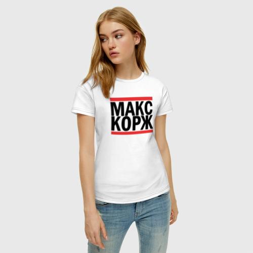 Женская футболка хлопок Макс Корж Фото 01
