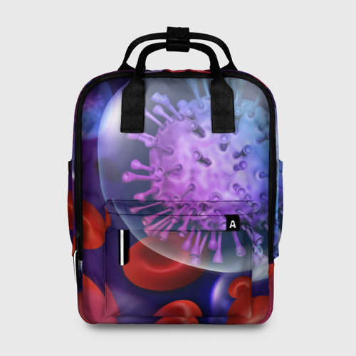 Женский рюкзак 3D Лейкоциты и клетка Фото 01
