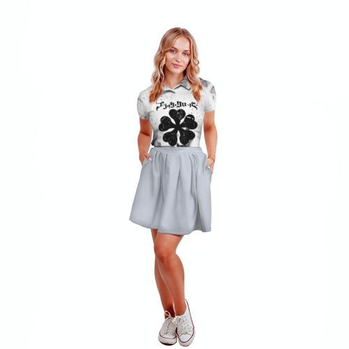 Женская рубашка поло 3D ЧЁРНЫЙ КЛЕВЕР Фото 01