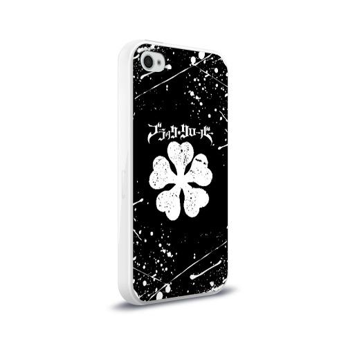 Чехол для Apple iPhone 4/4S силиконовый глянцевый ЧЁРНЫЙ КЛЕВЕР Фото 01