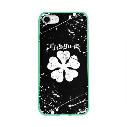 Чехол для Apple iPhone 8 силиконовый глянцевый ЧЁРНЫЙ КЛЕВЕР Фото 01