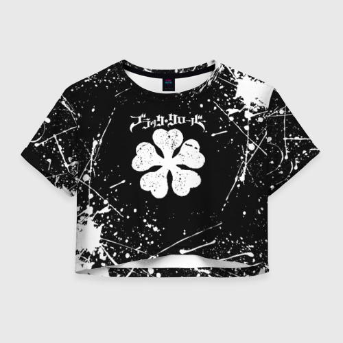 Женская футболка Crop-top 3D ЧЁРНЫЙ КЛЕВЕР Фото 01