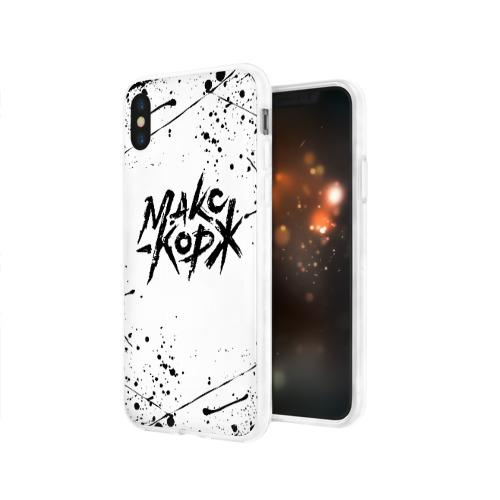 Чехол для Apple iPhone X силиконовый глянцевый МАКС КОРЖ Фото 01
