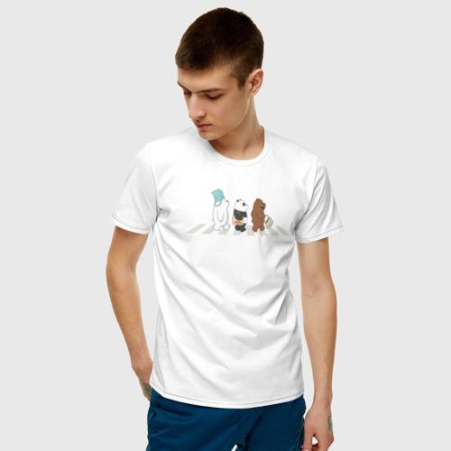Мужская футболка хлопок Вся правда о медведях Фото 01