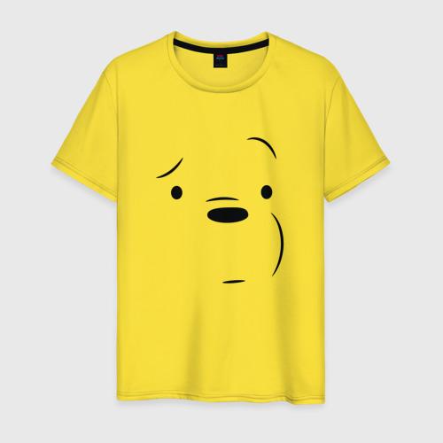 Мужская футболка хлопок Белый мишка Фото 01