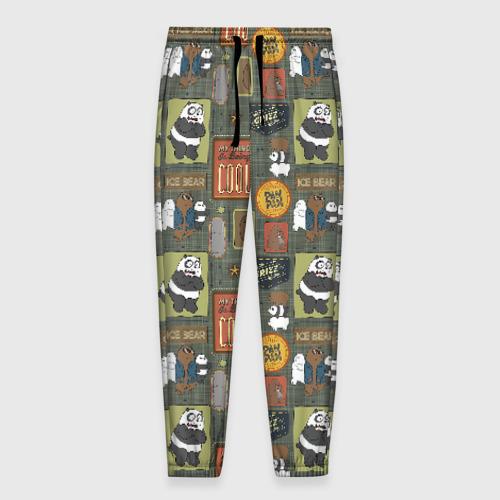 Мужские брюки 3D Клевые медведи Фото 01