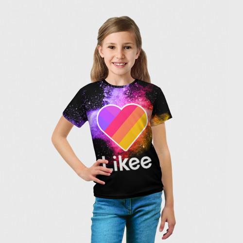 Детская футболка 3D LIKEE - Краски Фото 01