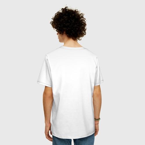 Мужская футболка хлопок Oversize Идущий к реке Фото 01