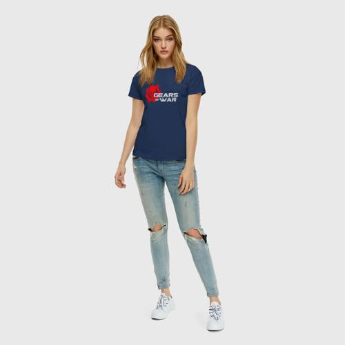 Женская футболка хлопок GEARS OF WAR (НА СПИНЕ) Фото 01