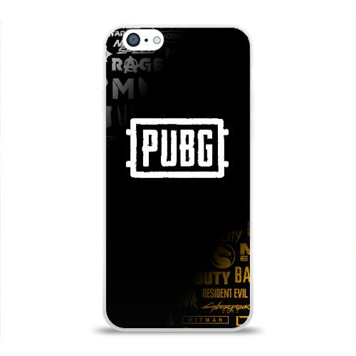 Чехол для Apple iPhone 6 силиконовый глянцевый PUBG Фото 01