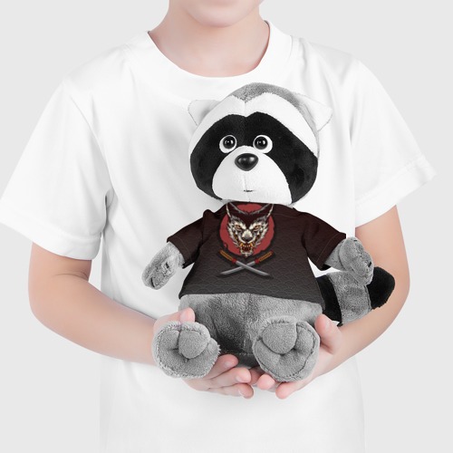 Енотик в футболке 3D Японский волк Фото 01