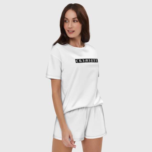 Criminal (женская пижама с шортиками хлопок) фото 2