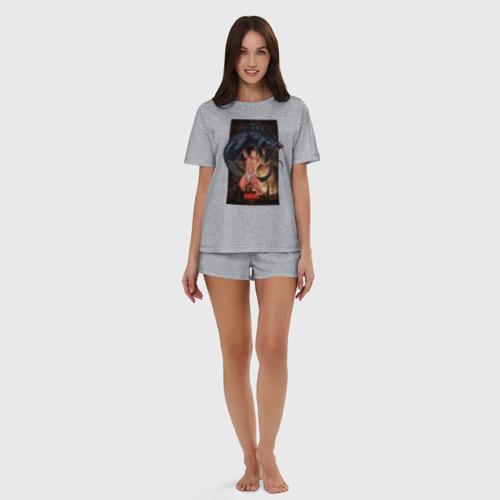 Billy ANIKI Aquarell (женская пижама с шортиками хлопок) фото 4