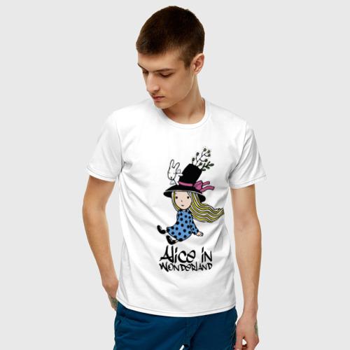 Мужская футболка хлопок Алиса в стране чудес Фото 01