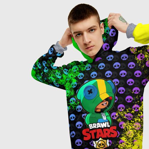 Мужская толстовка 3D Brawl Stars LEON Фото 01