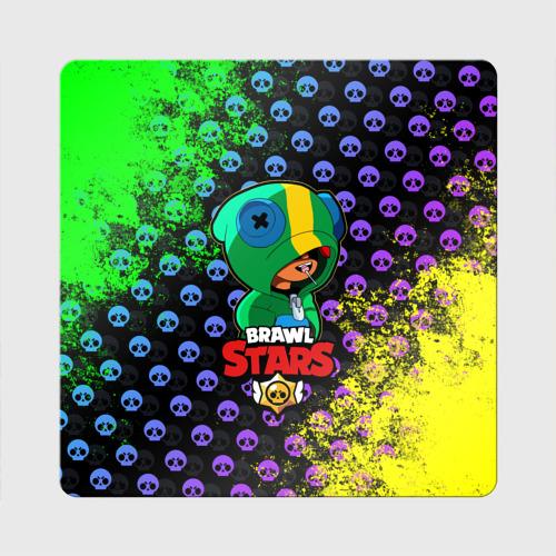 Магнит виниловый Квадрат Brawl Stars LEON Фото 01