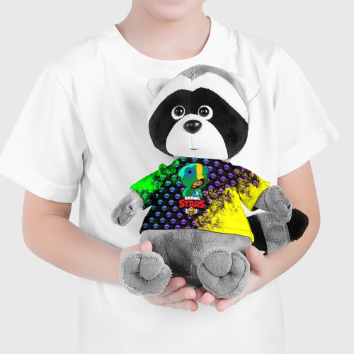 Енотик в футболке 3D Brawl Stars LEON Фото 01