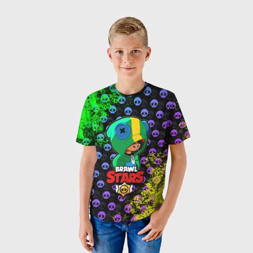 Детская футболка 3D Brawl Stars LEON